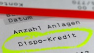 Die Zinsen für Dispo-Kredite sind auch in der Niedrigzinsphase hoch.