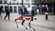 Hat nicht nur Fans: Roboter der amerikanischen Firma Boston Dynamics (hier bei einer Vorführung in Hamburg im April 2021)