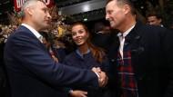 Amerikas Botschafter in Deutschland, Richard Grenell, trifft am 9. September in Berlin auf Vitali Klitschko.