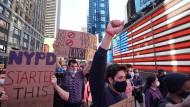 Auf der Straße: Demonstranten in New York.
