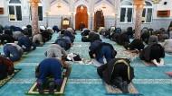 Der Islam in Deutschland: Betende Muslime in der Abu Bakr Moschee in Nürnberg