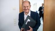 Finanzminister Olaf Scholz am Montag in der SPD-Parteizentrale in Berlin