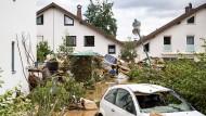 Trümmerfeld: ein Wohngebiet in Bad Neuenahr