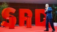 Nichts deutet daraufhin, dass er die SPD zum Wiederaufstieg führt: Kanzlerkandidat Olaf Scholz