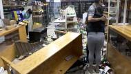 Ein verwüstetes Geschäft in Chicago