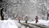 Finstere Zeiten: In diesem Winter schneite es heftig im Libanon.