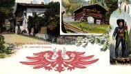 Ein Held für was immer gerade ansteht: Andreas Hofers Geburtshaus auf einer Postkarte.