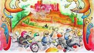 9bfeda5e-17bd-11ec-86b0-a8bbdecc1261    -  Deutschland Ride for Democracy Illustrationen zu OMS für Reise
