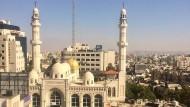 "Blick aus dem Hostel ""Area D"" in Ramallah."
