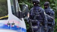 Einsatz: Spezialeinsatzkräfte der Polizei in Frankfurt
