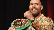"""""""Irgendein Typ versucht, mir den Kopf abzuschlagen."""" Der Brite Tyson Fury will seinen amerikanischen Gegner herunterspielen."""