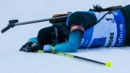 Nicht nur die Französin Julia Simon litt unter der extremen Kälte in Canmore.