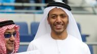 Mansour Bin Zayed Al Nahyan (rechts), Besitzer von Manchester City