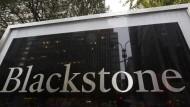 Das Logo der Investmentgesellschaft Blackstone in New York