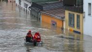 Unter Wasser: Das Donau-Hochwasser im Jahr 2013 führte in Passau zu Überschwemmungen