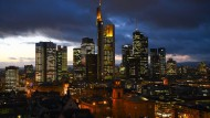 Frankfurt skyline: The Dax suffered the highest daily loss since 2001 on Monday.