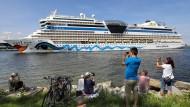 """Bald sollen wieder Gäste an Bord: """"Aida Mar"""" im Sommer in Rostock"""