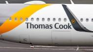 Eine Maschine der Fluggesellschaft Thomas Cook