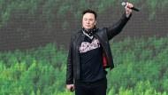 Tesla-Chef Elon Musk beim Tag der offenen Tür in Grünheide
