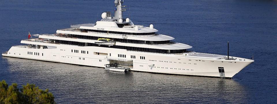 """""""Eclipse"""" heißt die Luxusjacht des Milliardärs Roman Abramovich."""