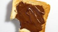 Beliebtes Frühstück: ein Nutella-Toast