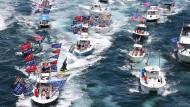 Trump-Anhänger vor Mar-a-Lago, Florida