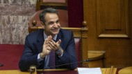 Mitsotakis im Parlament in Athen