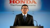 Setzt nach Umstrukturierungen nicht mehr auf die Briten: Honda-Chef Takahiro Hachigo in Tokio