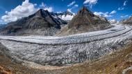 Der Aletsch-Gletscher in den Alpen