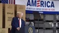 Der amerikanische Präsident Donald Trump am Donnerstag in Clyde, Ohio