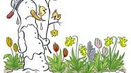 Was singen die Vögel da droben, und jauchzen und toben? – Das fragt sich eine Blumenzwiebel im Kindergedicht von Josef Guggenmoos.