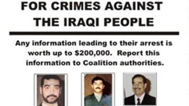 Saddam, Fahndungsplakat, dpa