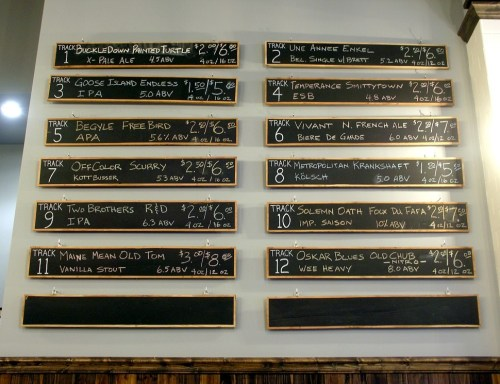 Click to enlarge. This tap list is out of date, but itll give you an idea. Beermiscuous tries to offer a broad range of styles while focusing on local breweries.