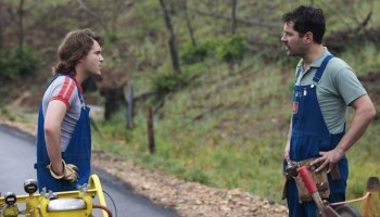 Emile Hirsch and Paul Rudd in Prince Avalanche