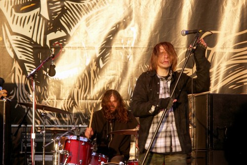 Eyehategod front man Mike IX Williams with new drummer Aaron Hill