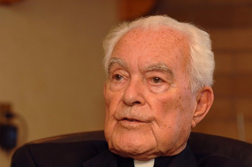Former Notre Dame president Father Theodore Hesburgh