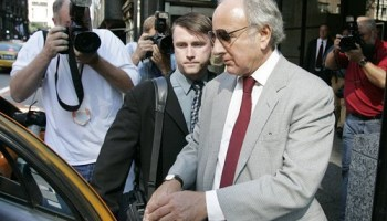 Former Sun-Times publisher David Radler pictured in 2005, right after he pleaded guilty to wrongfully diverting funds away from the papers parent company