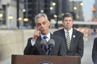 Just one moment from another day in the life of Rahm.