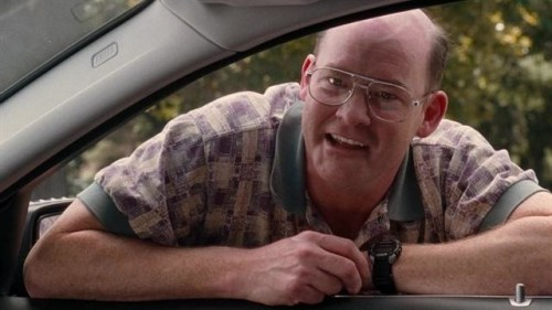 Koechner in one of his favorite roles, Nathan in Mike Judges Extract