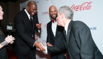 Mayor Emanuel gets an assist from Magic Johnson (pictured here in 2013) on the campaign trail.