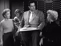 Mr. Burr and the women: with Anne Baxter (left) and Ann Sothern (right)