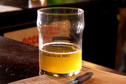 Never forget where you are with customized festival glasses! I think thats Goose Island Halia in it too.