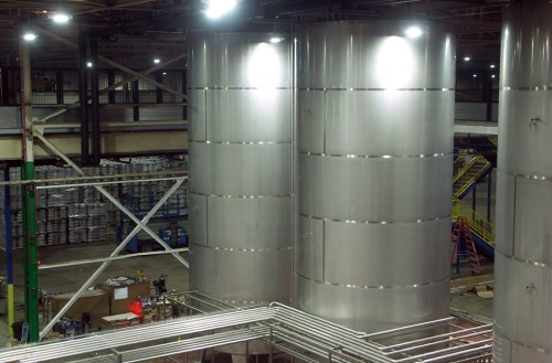 Some of the heavy steel visible from the windows of the tap room