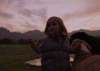 The directors daughter, in the films striking opening sequence