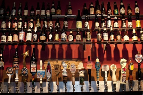 The Map Rooms tap handles are exactly what you wont be able to see on Sunday.