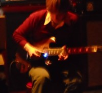 Trevor de Brauw, most likely playing at a very high volume