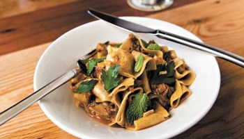 Whole-wheat pappardelle with lamb ragu at Madisons Nostrano