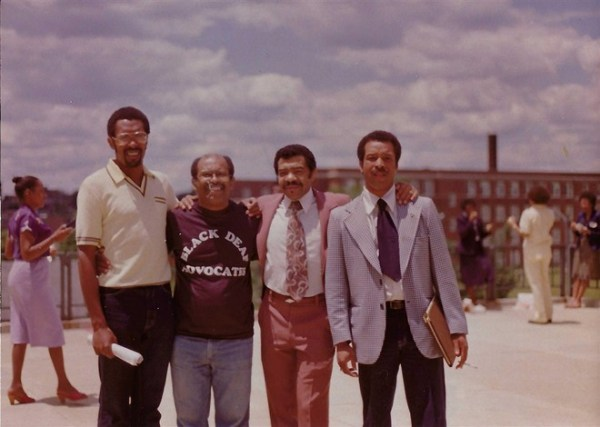 Caption, left to right: Glenn Anderson, Charles Williams, Ernie Hairston, and Linwood Smith. Image courtesy of Charles Williams.