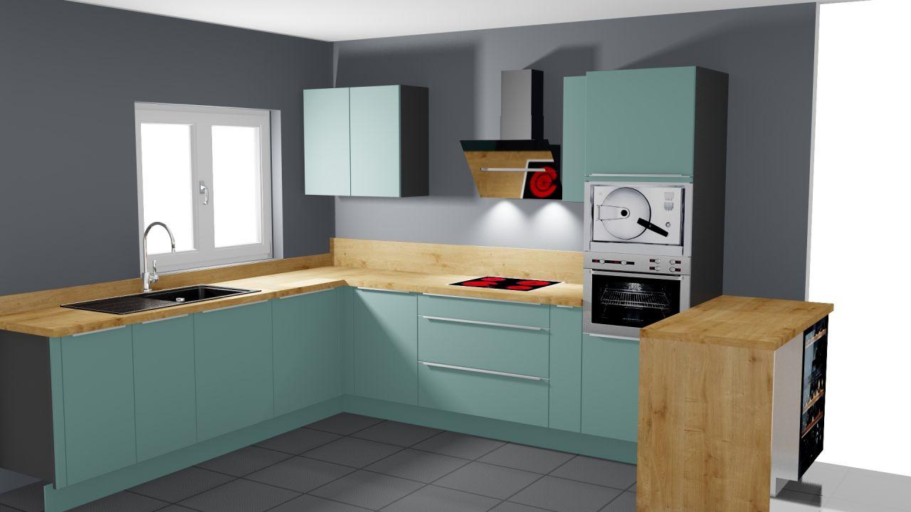 mur pour nos meubles de cuisine vert