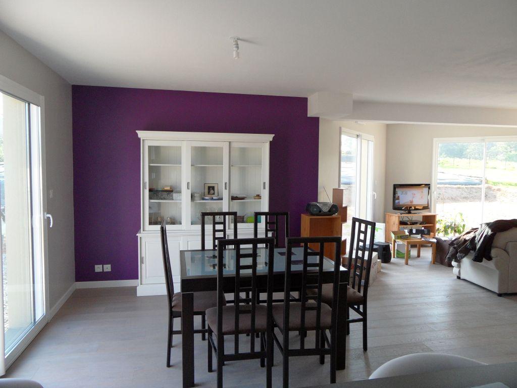 Peinture Grise Et Violet Pour Salon Sjour Amp Cuisisne